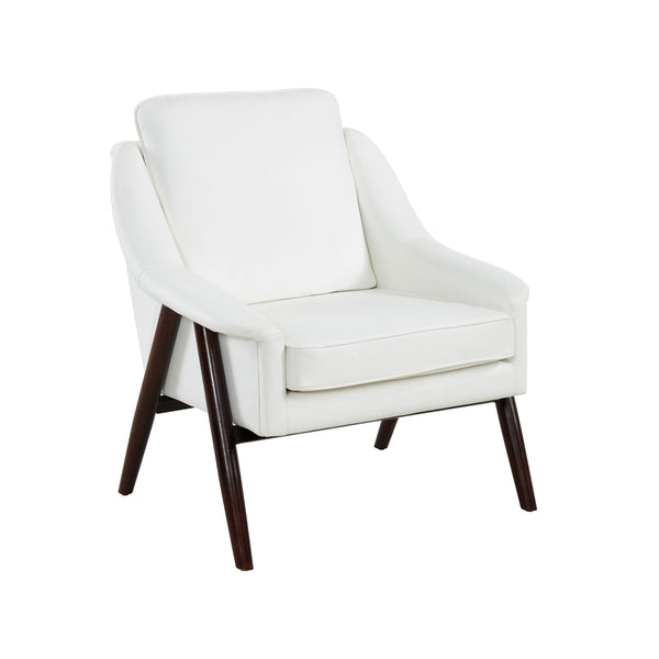 Mid-century Modern Styling Ivory Accent Chair - Brandon