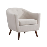 Bucket Seat Blue Accent Chair - Amber