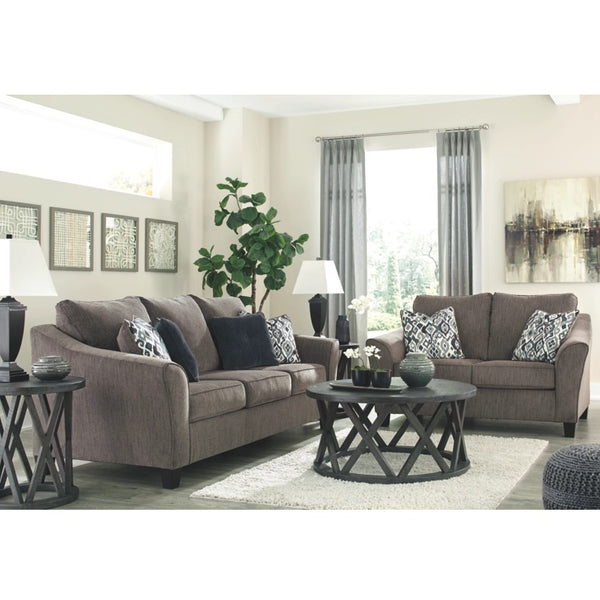 Edmonton Furniture Store | Dark Taupe Chenille Sofa - 458