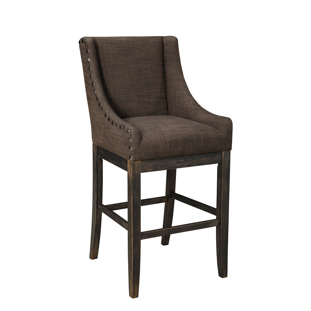 Grey Fabric BarStool - D608-430
