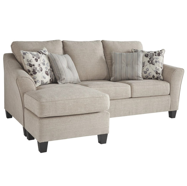 Edmonton Furniture Store | Cream Apartment Size Sectional Sofa Bed - 497