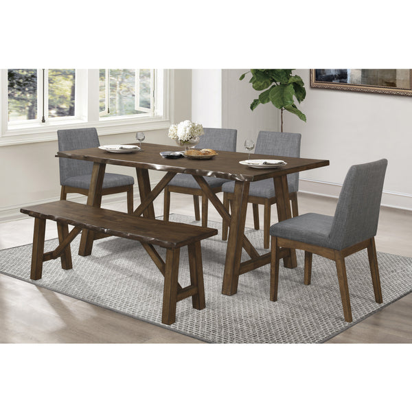 Live Edge Dining Table Set - 5752