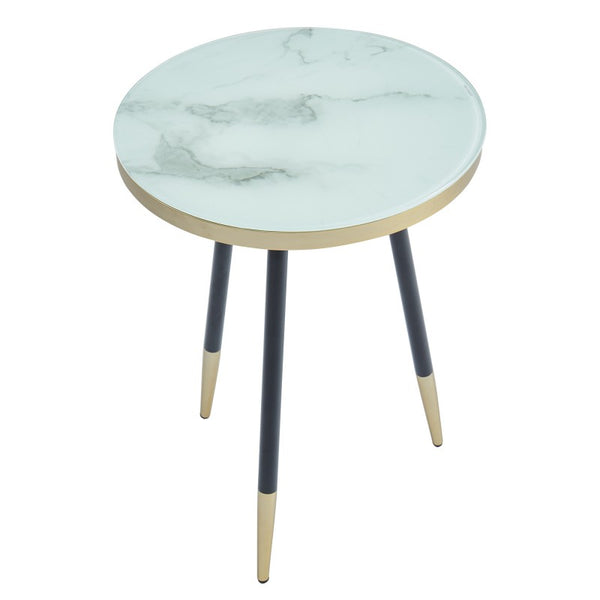 Looking For Furniture Stores: White Marble Looking End Table
