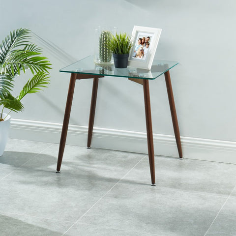 Edmonton Furniture Store | Modern Glass Top End Table - Abbot
