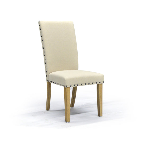 Linen Chair with Nailheads