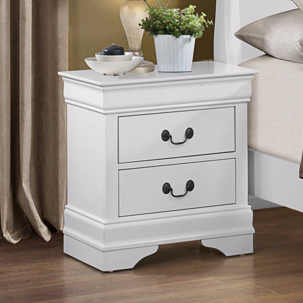 White Color Nightstand - 2147