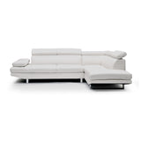 RHF White Bonded Leather Sectional - 9782