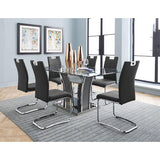 Glass Top Dining Table with 6 Chairs - 5577 Package
