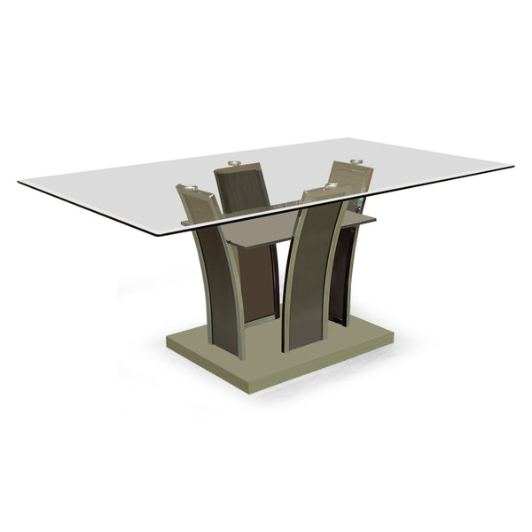 Glass Top Dining Table - 5577