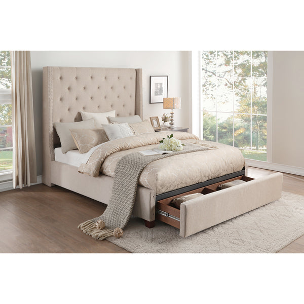 Upholstered Storage King Bed- 5877