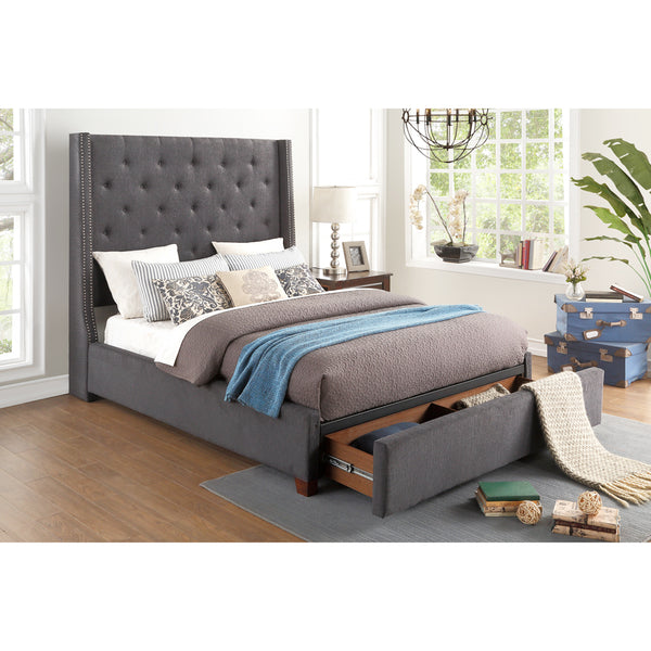 Upholstered Storage Queen Bed- 5877