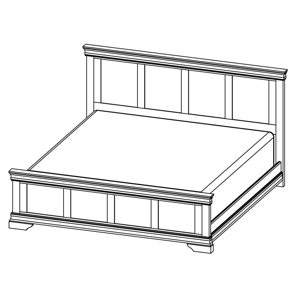 Solid Wood Canadian Made King Panel Bed- Bayshore