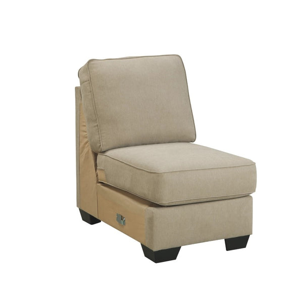 Edmonton Furniture Store | Cream Fabric Stationary Armless Chair - 166