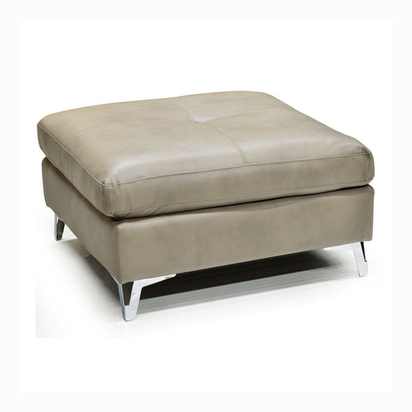 Leather Gel Ottoman w/ Metal Leg - 7168