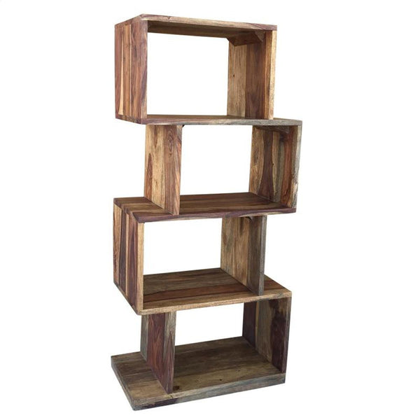 Inspire Idris Shelving Unit In Dark Sheesham - 505-814DS
