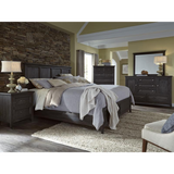Edmonton Furniture Store | Rustic Modern Weathered Charcoal Finish Bed - Mill River