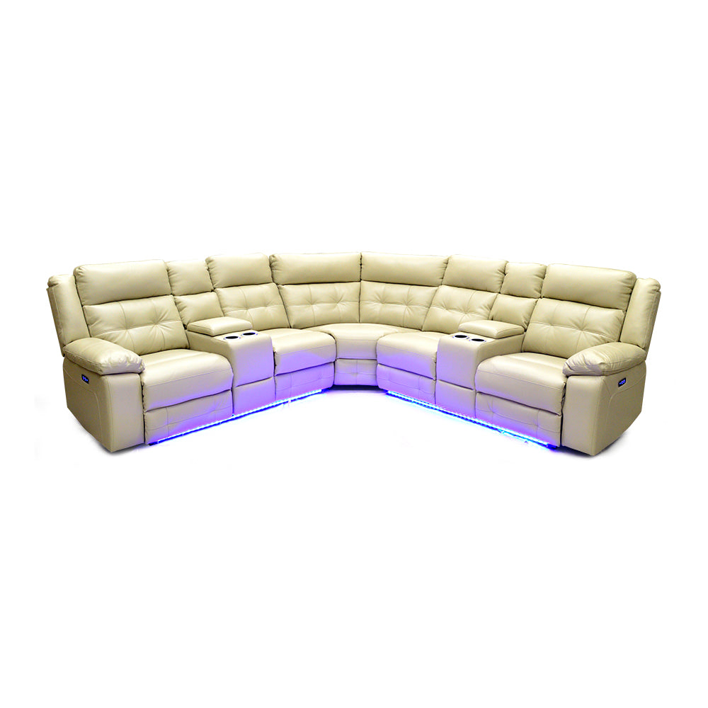 Leather Aire Sectional w/ LED Lights