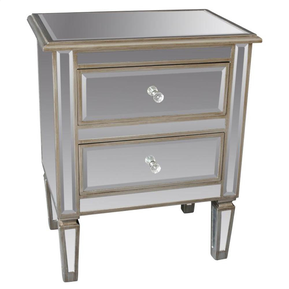 Eden Accent Table In Antique Silver - 501-213