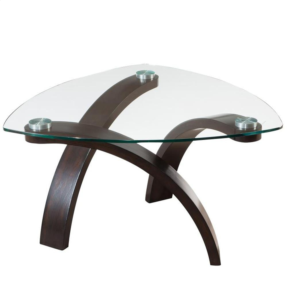 Glass Top Coffee Table - Saturn