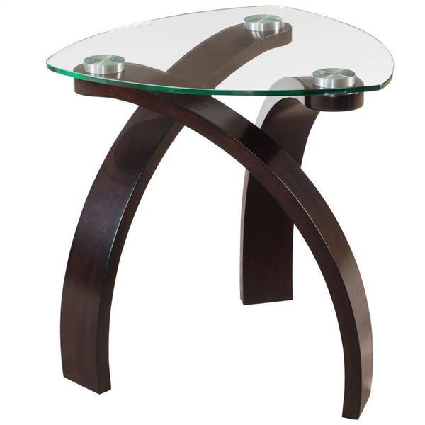 Glass Top 501-407 End Table - Saturn