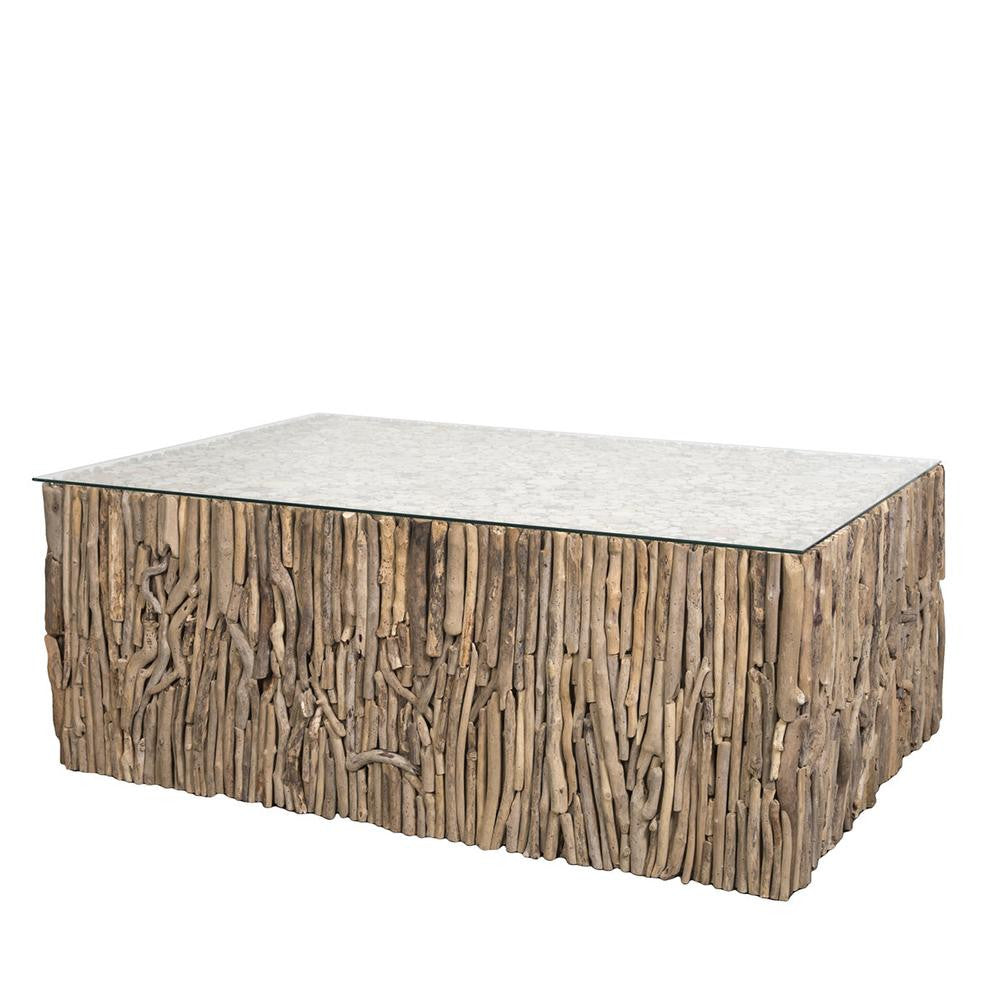 Teak Driftwood Coffee Table - Nirvana Vertical Driftwood NVA65