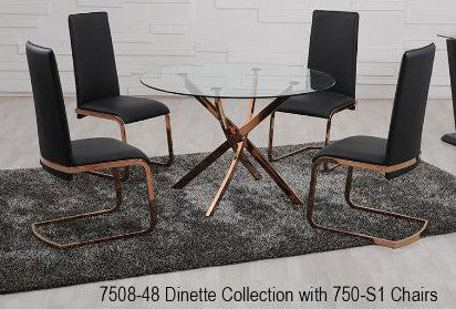 Rose Gold Dinette Dining Chair - 7508
