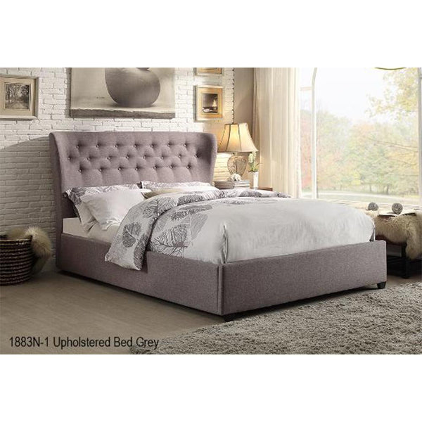 Wing Back Tufted Queen Bed