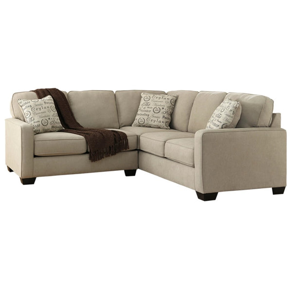 Edmonton Furniture Store | Cream Fabric 5 Seat Sectional - 166