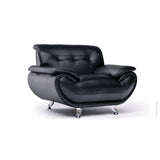 Black Bonded Leather Chair - 8021 Black