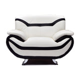 White Bonded Leather Chair - 8021