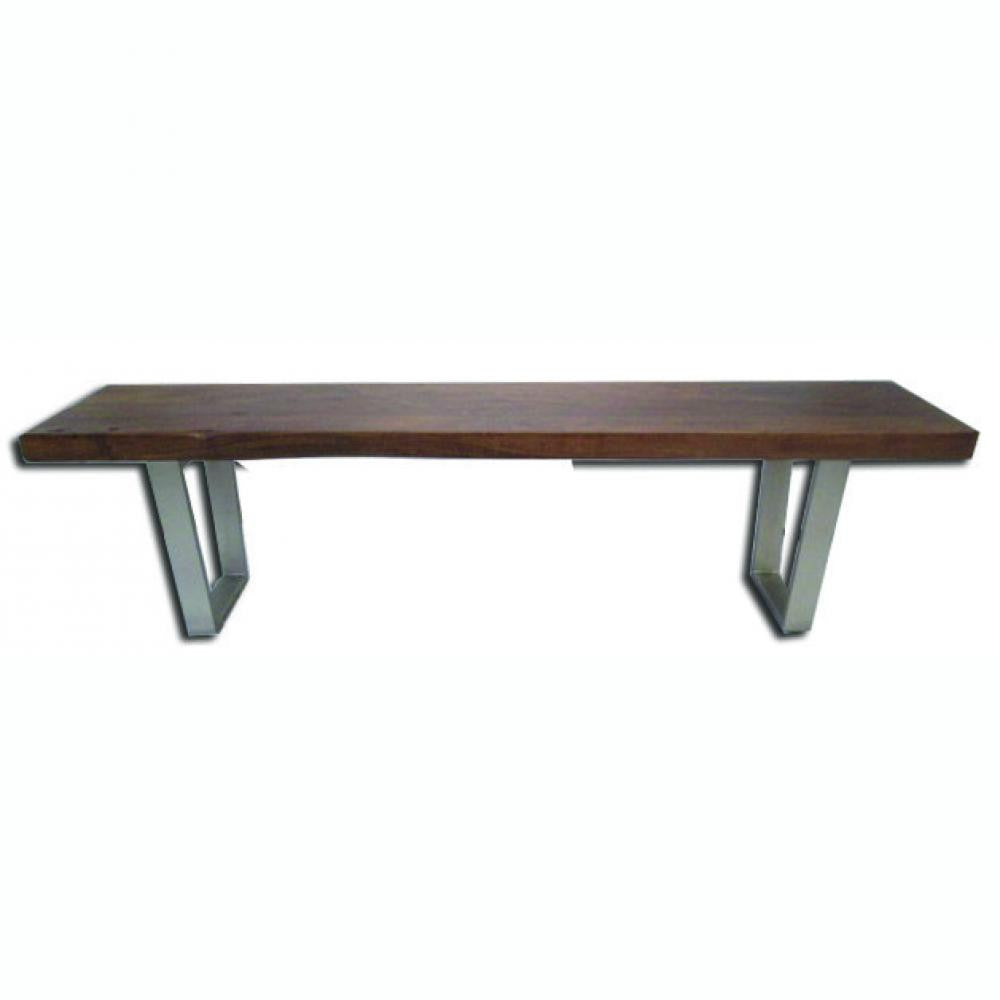 Live Edge Solid Acacia Wood Dining Bench- Verde