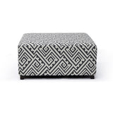 Cocktail Ottoman in Grey/White - Valentina