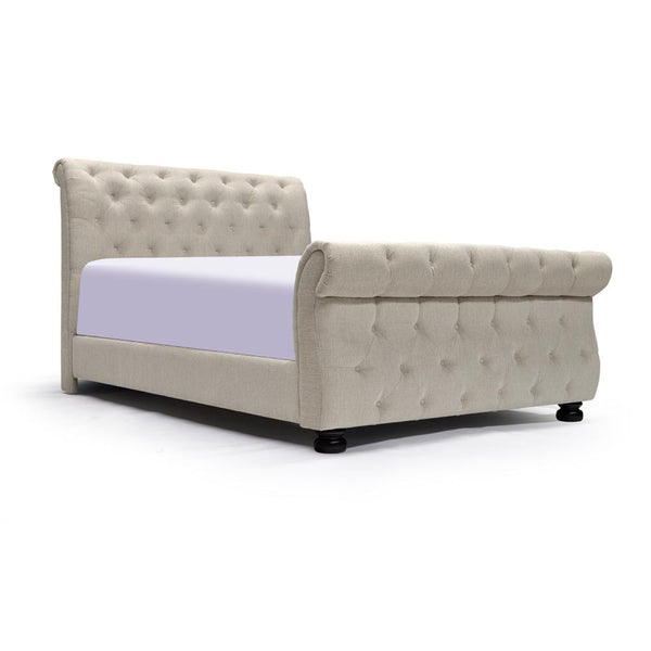 Curved Shape Upholstered King Bed - B643