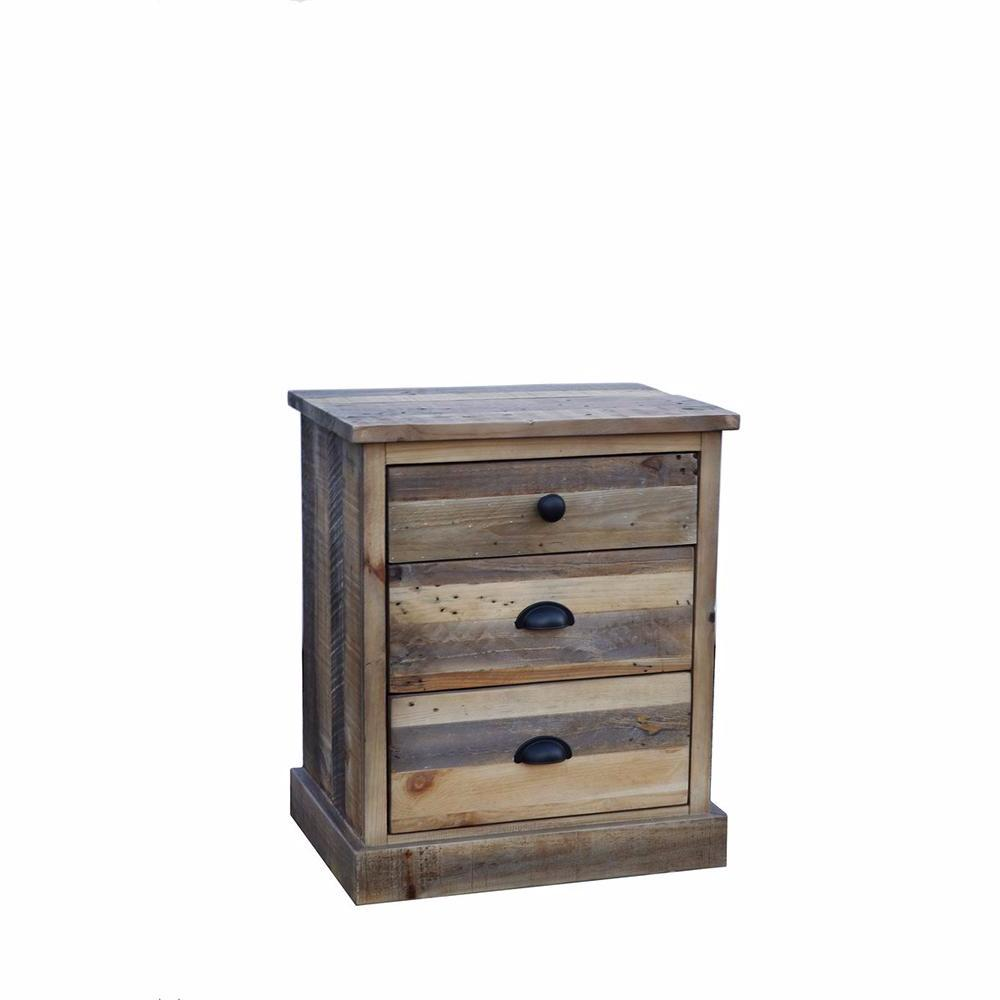 Country 3 Drawers Nightstand- Campestre