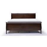 Cherry Color Wood Double Bed - 2147
