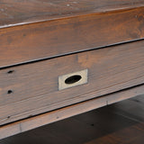 Reclaimed and Recycled Wood Small Coffee Table - Post & Rail