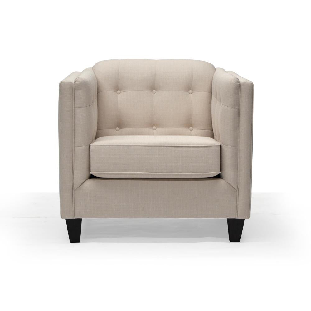 Custom Tufted Chair - 9665