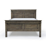 Solid Wood High Footboard Queen Bed - Settler