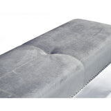Tufted Velvet with Nails Bench - Ariel