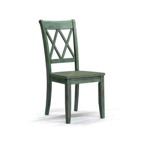 Blue Wood Dining Chair - D540-101
