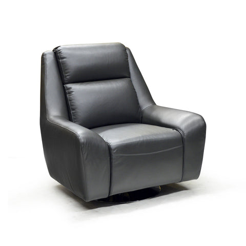 Contemporary Looking Grey Color Swivel Chair- 9923