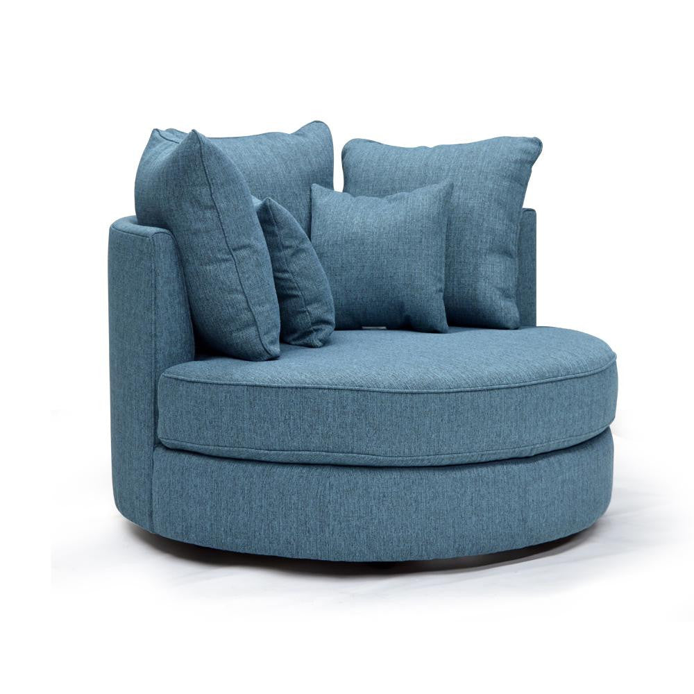 Round Accent Chair - Sutton – Ideal Home Furnishings