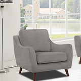 Edmonton Furniture Store | Contemporary Mid Century Modern Grey Fabric Sofa Set - 9040
