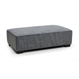 Contemporary Fabric Sectional w/ Ottoman - 9916