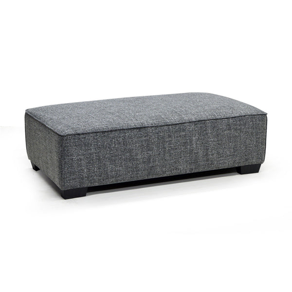 Contemporary ottoman in fabric - 9065