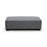 Contemporary ottoman in fabric - 9916