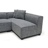 Contemporary Fabric Sectional w/ Ottoman - 9065