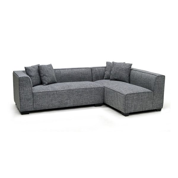 Grey Microfiber Sectional w/ Pillows