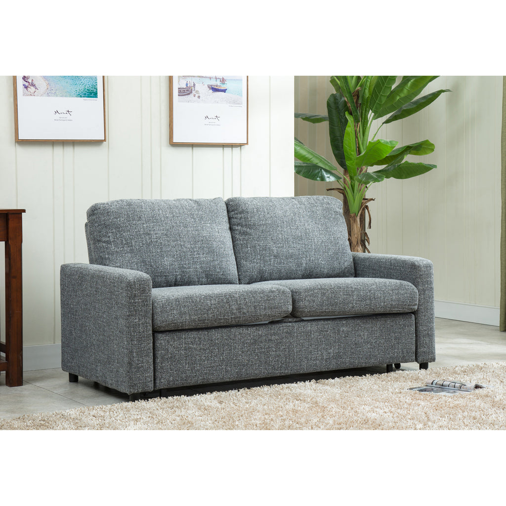 Edmonton Furniture Store Modern Chenille Memory Foam Pull Out Sofa