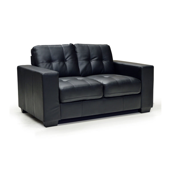 Contemporary Black Loveseat - 9071